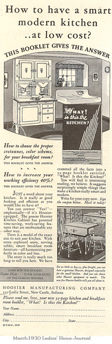 Hoosier ad in LHJ March 1930
