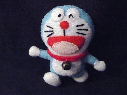 Homemade plush Doraemon by EnglishGirlAbroad