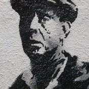 Banksy in Boston: Portrait from the F̶O̶L̶L̶O̶W̶ ̶Y̶O̶U̶R̶ ̶D̶R̶E̶A̶M̶S̶ CANCELLED piece on Essex St, Chinatown, Boston