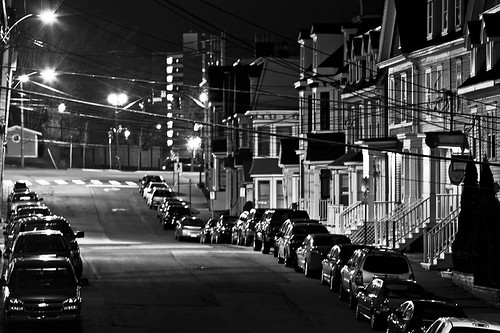 Night Gower Street Black and white