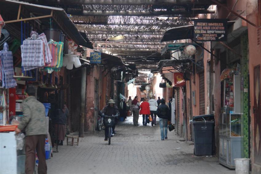 Puede resultar difícil salir de las laberínticas calles del Zoco para llegar a Jamaa el-Fna