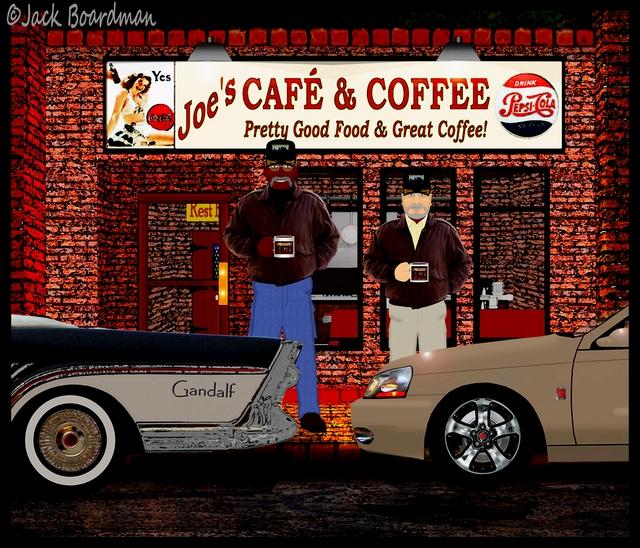 Old Men & Coffee Shops ©Jack Boardman