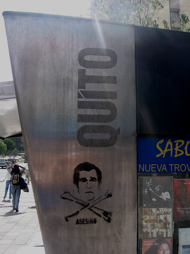 "south Qutio, Ecuador: Bush ""killer"" stencil [2007-2008]"