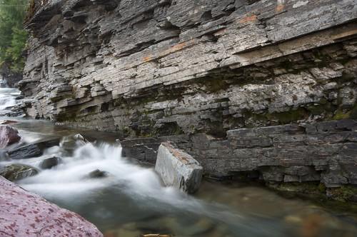 Waterfall at Glacier National Park