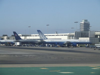 United Airlines terminal at LAX