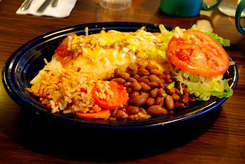 mannie's--chicken burrito