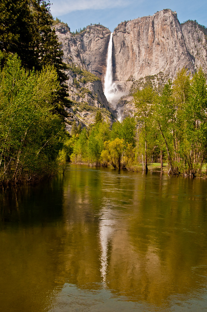 Yosemite Falls from the valley