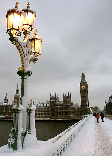 A wintry Big Ben in the snow