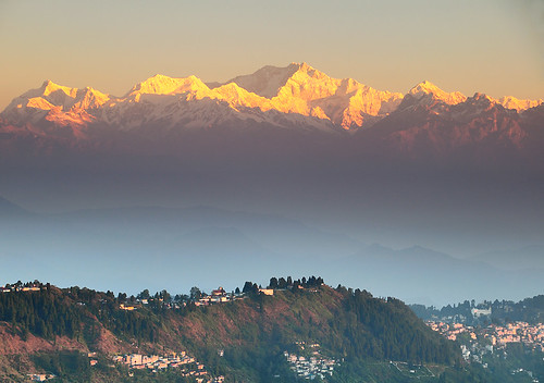 View of kanchanjanga from Darjeeling