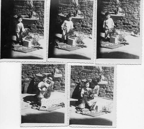 Ariano nel Polesine - 1949 - Stupore di bimbo - Candid con la mamma