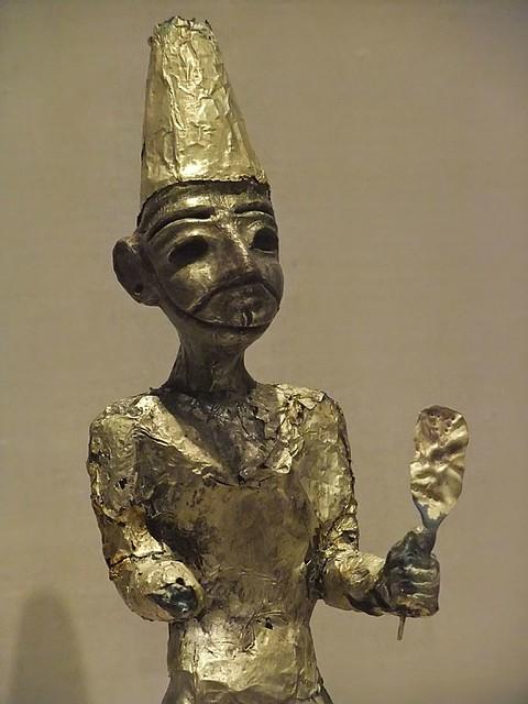 Figurine of the Canaanite God El from Megiddo (Modern Israel) Stratum VII Late Bronze II (1400-1200 BCE)