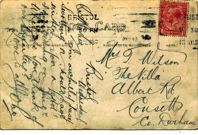 WWI RAF Postcard 1919