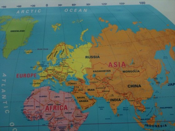 Map of russia in europe and asia Map Of Europe Asia