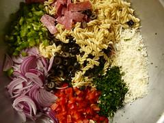 Deli-Style Pasta Salad - unmixed