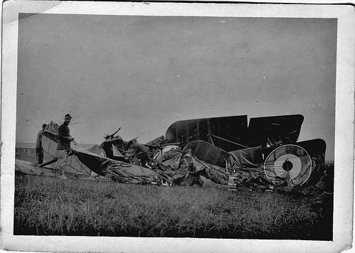 Bristol Figher down Sept 1919, a fatal crash, RAF Crail