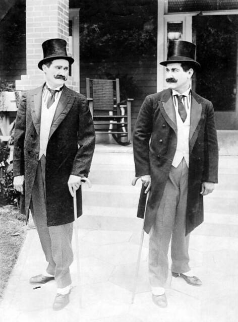 Bobby Burns and Walter Stull: Motion picture scene