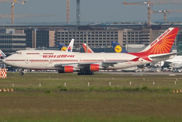 Air India एर इंडिया Boeing 747-437 VT-EVA Agra आगरा (31204)
