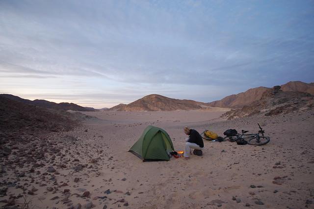 Camping in the Sinai Desert