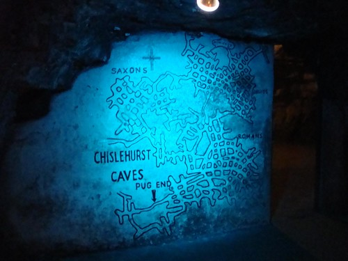 Chislehurst Caves map