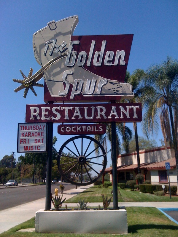 The Golden Spur Restaurant - 1223 East Route 66, Glendora, California U.S.A. - September 6, 2009