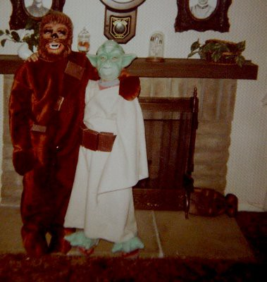 Chewie and Yoda Halloween c. 1980