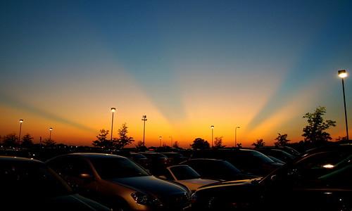 Parking Lot Sunset