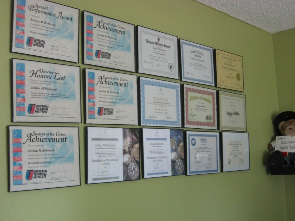 Joshua's Awards