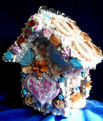 Gingerbread Birdhouse Mosaic Art