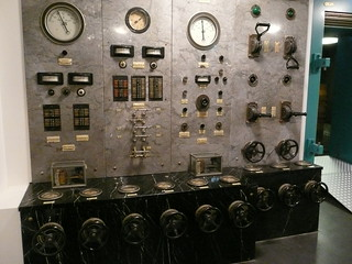 in the Amsterdam Stadsarchief - control panel