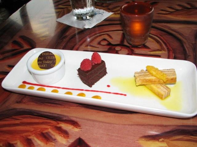 Disney Animal Kingdom Lodge Restaurants  Sanaa desert platter