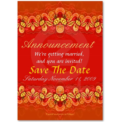 side b : rich red Wedding/Invite card template