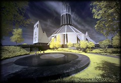 Metropolitan Cathedral of Christ The King, Liverpool, UK in Infrared