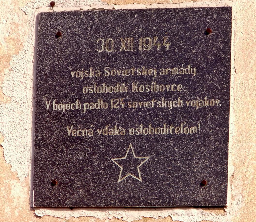 Pamätná tabuľa v Kosihovciach