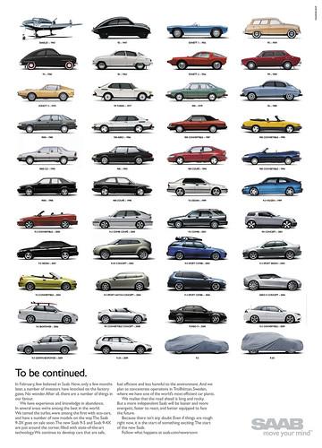saab history cars ads
