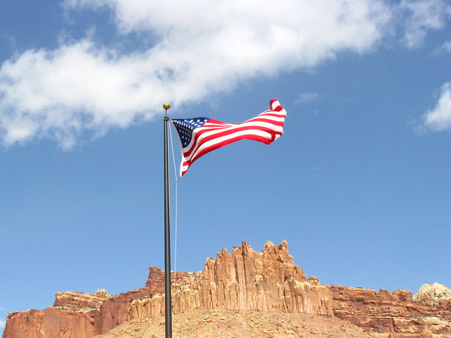 U.S. flag in Capitol Reef NP