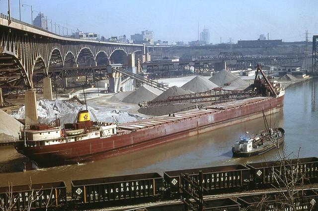 Cuyahoga River Cleveland Ohio 1969