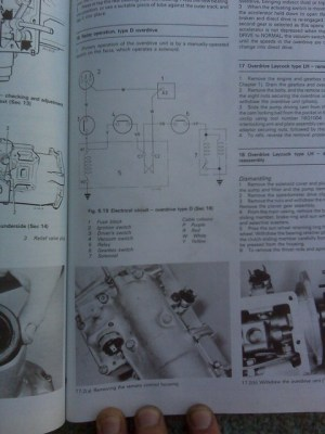 1977 MGB Overdrive wiring schematicdiagram  a photo on