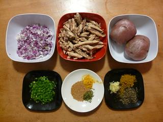 Sri Lankan Fish Cutlets - Ingredients