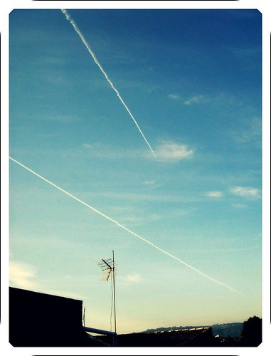 two lines across the sky