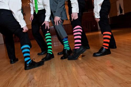 The clown socks!
