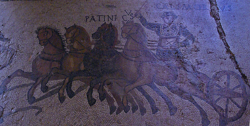 Quadriga, Mosaic del circ, Museu d'Història de la Ciutat, Girona