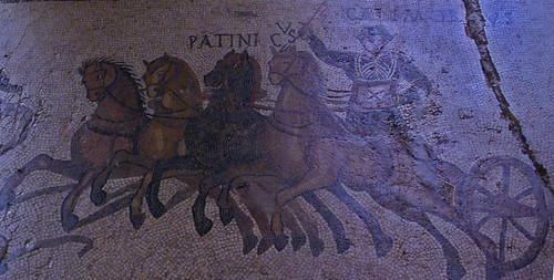 Quadriga, Mosaic del circ, Museu d'Història de la Ciutat, Girona