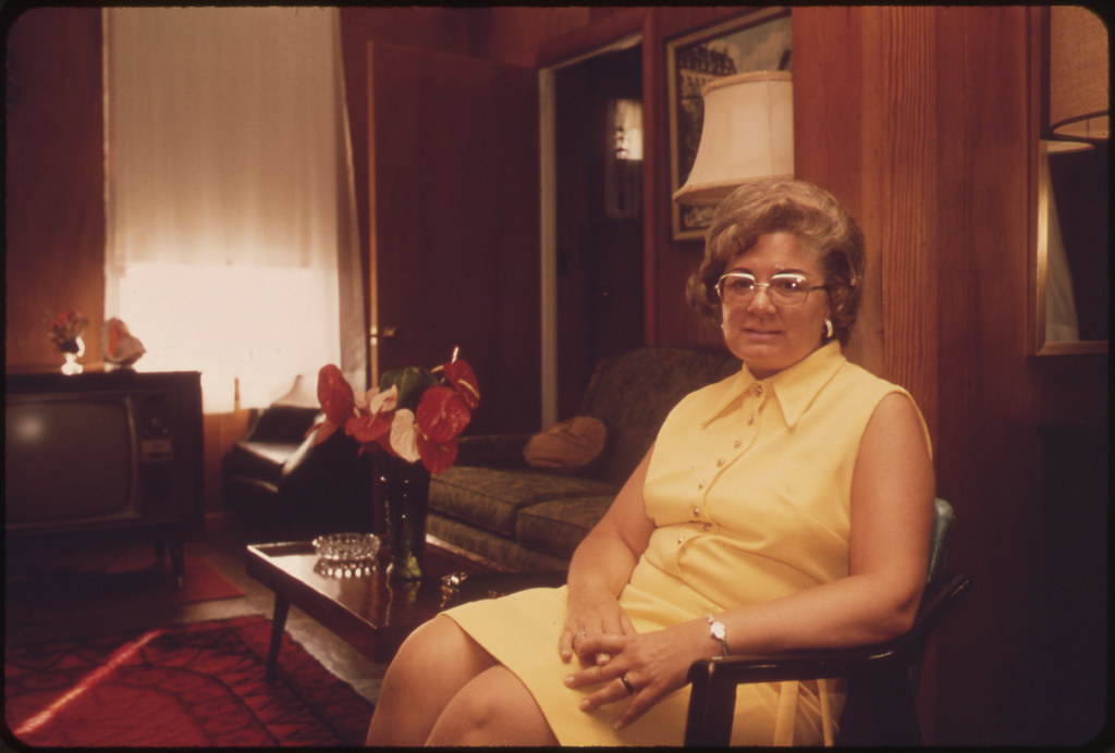Carolyn Brobrek in Living Room of Her Home at 99 Cowper Street