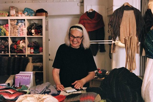 yarn store lady
