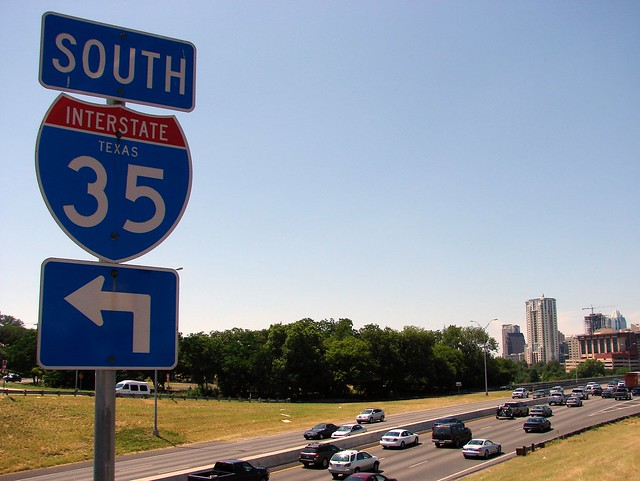 Interstate 35, Texas, Austin, Riverside