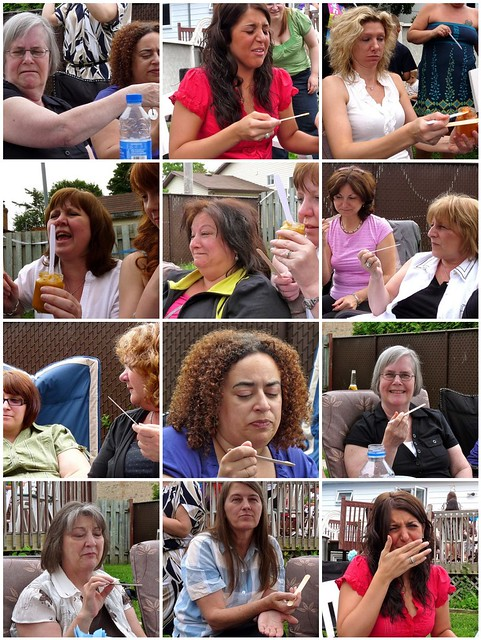 Baby Shower Guests Playing Baby Food Game