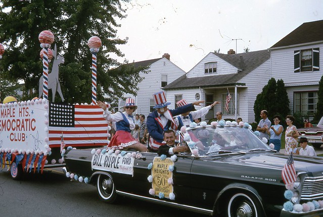 Maple Heights Mayor July 4th parade 1965