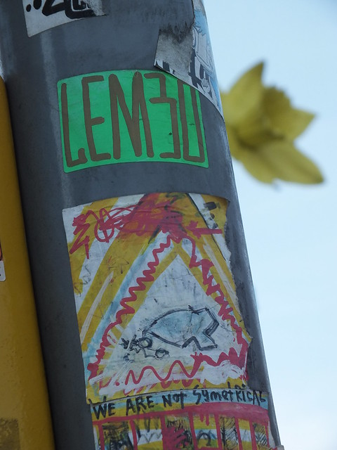 Lembo street art, stickers and stencils