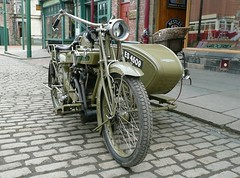 """1921 """"Matchless"""" Motorcycle Combination"""