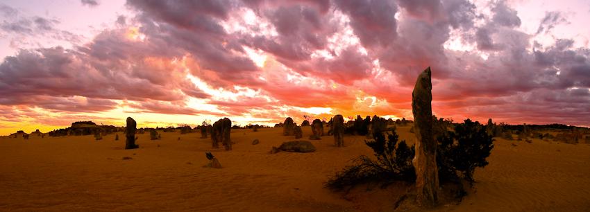 Sonnenaufgang über den Pinnacles